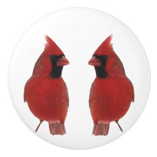 (鳥)ショウジョウコウカンチョウの陶磁器のノブ セラミックノブ