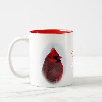 (鳥)ショウジョウコウカンチョウの飲料のマグは個人化なります ツートーンマグカップ