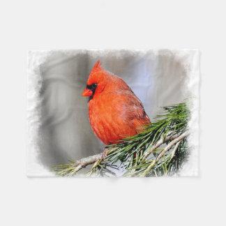 (鳥)ショウジョウコウカンチョウ1B フリースブランケット