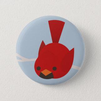 (鳥)ショウジョウコウカンチョウ 5.7CM 丸型バッジ