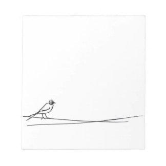 鳥 ノートパッド