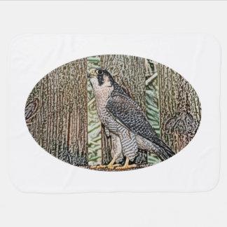 《鳥》ハヤブサのスケッチの鳥のデザインの野生動物 ベビー ブランケット