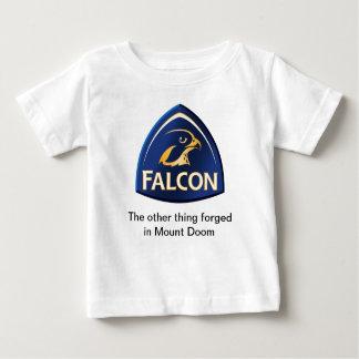 《鳥》ハヤブサのワイシャツ ベビーTシャツ