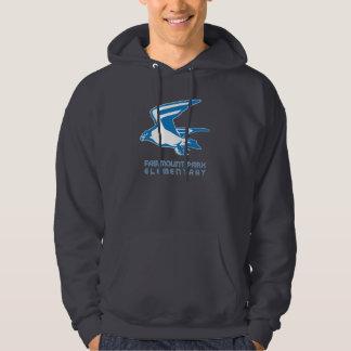 《鳥》ハヤブサの精神のプルオーバーのフード付きのスエットシャツ パーカ