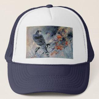 《鳥》ハヤブサの鳥の日本人のプリント キャップ
