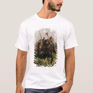 《鳥》ハヤブサを持つアラビア人 Tシャツ