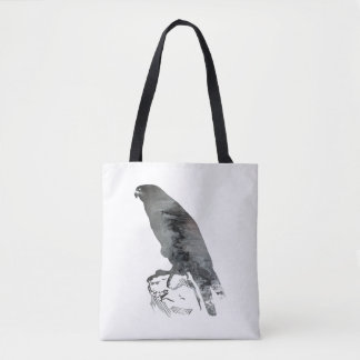 《鳥》ハヤブサ トートバッグ