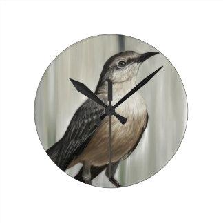 鳥 ラウンド壁時計