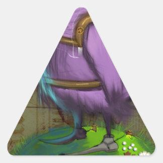 鳥 三角形シール