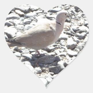 鳥|石|床 ハート形シール・ステッカー