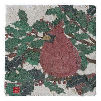 鳥、(鳥)ショウジョウコウカンチョウ、休日、クリスマス トリベット