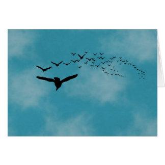 鳥bが付いている空 カード
