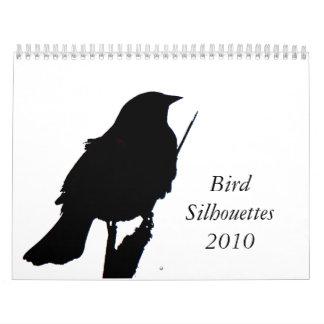 鳥Silhouettes2010のカレンダー カレンダー