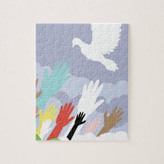 鳩および手2 ジグソーパズル