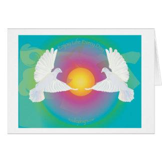 鳩と毎日楽しむな生命 カード