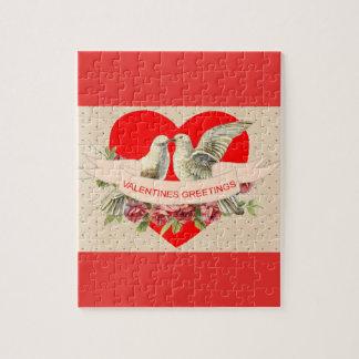 鳩のバレンタインのパズル ジグソーパズル