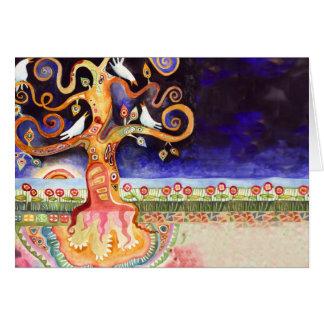 鳩のバーのバルミツワーのサンキューカード生命の樹 カード