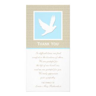 鳩の悔やみや弔慰は写真カード感謝していしています カード