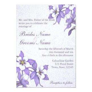 鳩の花束2の結婚式招待状 カード
