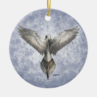 鳩の飛行中に自然の引くこと セラミックオーナメント