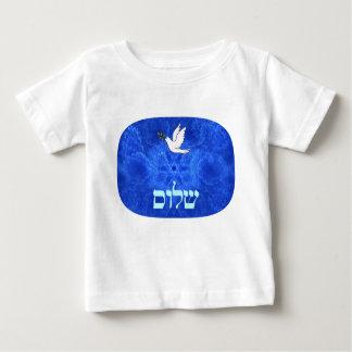 鳩- Shalom ベビーTシャツ