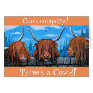 鳴き声の会社、3のcow'd. カード