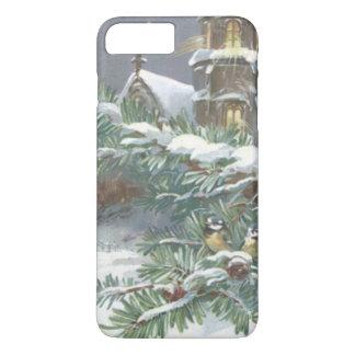 鳴き鳥の常緑教会キリスト教の十字の雪 iPhone 8 PLUS/7 PLUSケース