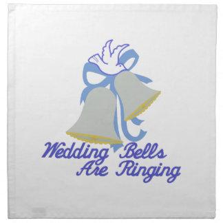 鳴る結婚式の鐘 ナプキンクロス