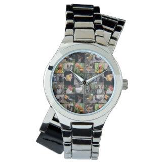 鶏およびオンドリの女性銀の覆いの腕時計 腕時計