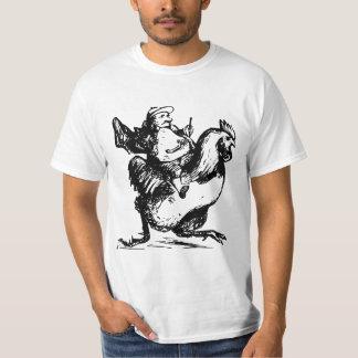 鶏で競争している人 Tシャツ