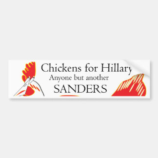 鶏とのクリントン狭いところの勝利は小片および鳴き声でした バンパーステッカー