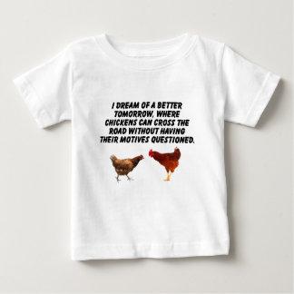 鶏のためのよりよい世界 ベビーTシャツ
