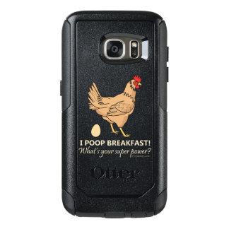 鶏のウンチの朝食のおもしろいなデザイン オッターボックスSamsung GALAXY S7ケース