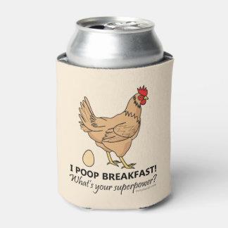 鶏のウンチの朝食のおもしろいなデザイン 缶クーラー