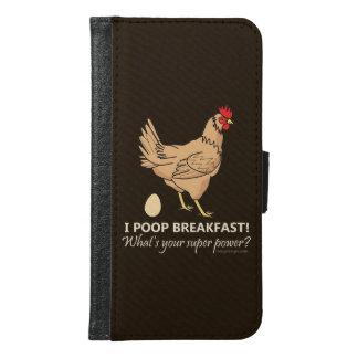 鶏のウンチの朝食のおもしろいなデザイン GALAXY S6 ウォレットケース