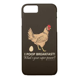 鶏のウンチの朝食のおもしろいなデザイン iPhone 8/7ケース