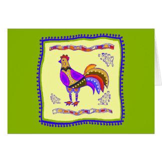 鶏のキルト カード