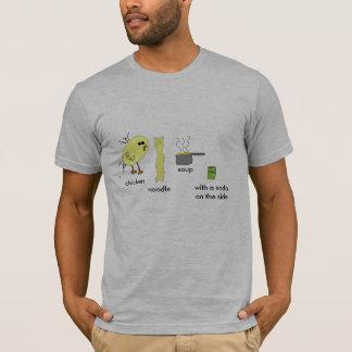 鶏のヌードル・スープのワイシャツ Tシャツ