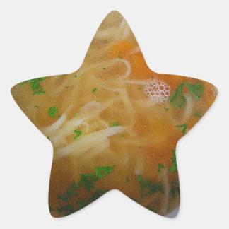 鶏のヌードル・スープ 星シール