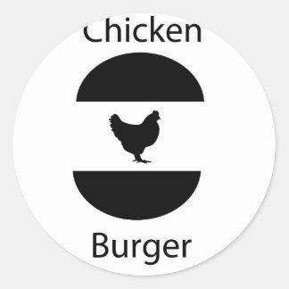 鶏のハンバーガー ラウンドシール