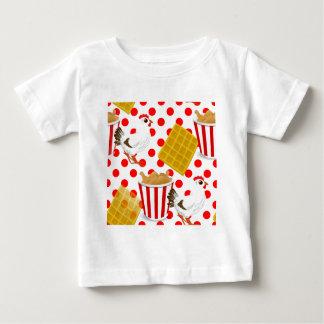鶏のワッフル ベビーTシャツ