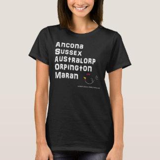 鶏の品種TシャツのアンコーナWB Tシャツ
