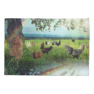 鶏の天国 枕カバー