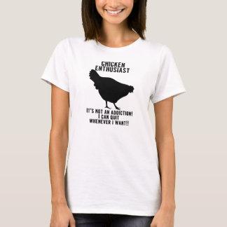 鶏の常習者の…えー…熱狂者のワイシャツ Tシャツ