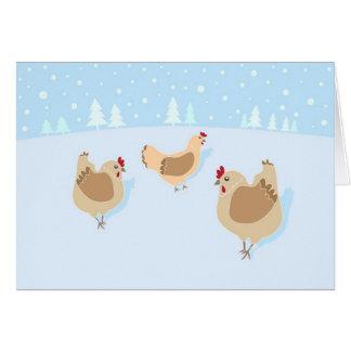 鶏の恋人のためのクリスマスカード! グリーティングカード