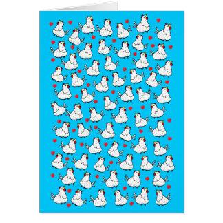 鶏の束のハートパターン-挨拶状 グリーティングカード