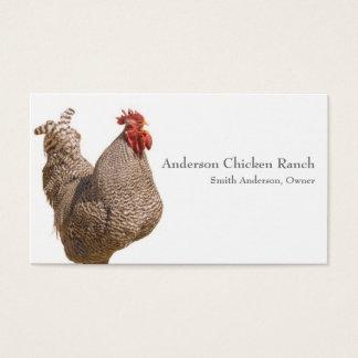 鶏の牧場主の名刺 名刺