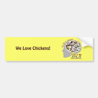 鶏の頭脳 バンパーステッカー