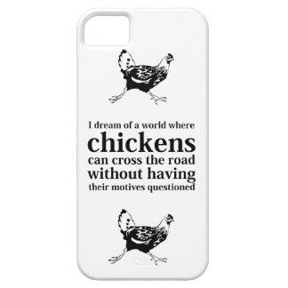 鶏は道のiPhoneの例を交差できます iPhone SE/5/5s ケース
