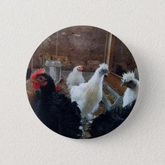 鶏ボタン 5.7CM 丸型バッジ